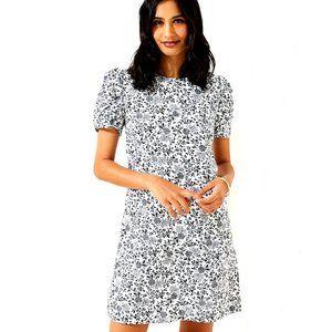 LOFT Dresses - NWT LOFT Ruched Sleeve Shift Dress Black Floral !